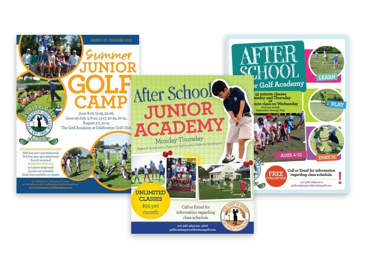 Celebration Golf Club Kids Golf Fliers