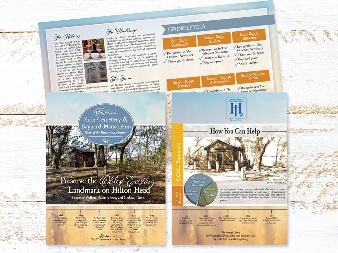 Marketing Booklet for Zion Cemetery and Baynard Mausoleum