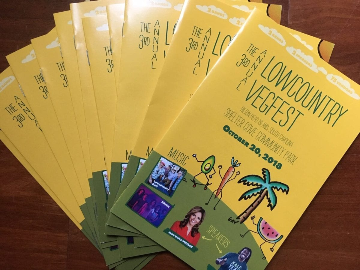Programs for the 3rd Annual Lowcountry Veg Fest