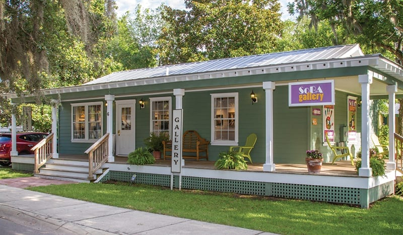 The SoBA Gallery is located in Old Town Bluffton